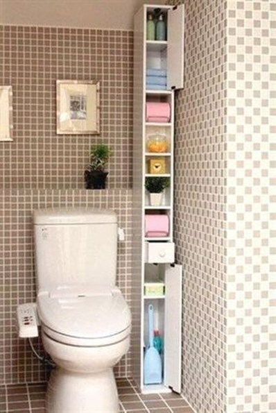 Stunning Bathroom Storage Shelves Organization Ideas 43