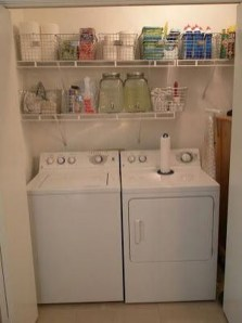 Wonderful Laundry Room Storage Organization Ideas On A Budget 14