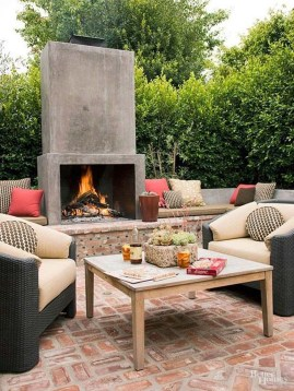 Wonderful Outdoor Fireplace Design Ideas 09