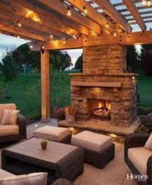 Wonderful Outdoor Fireplace Design Ideas 22