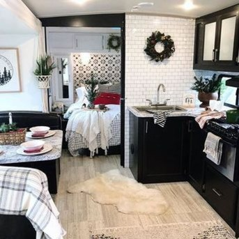 Wonderful Rv Camper Van Interior Decorating Ideas 09