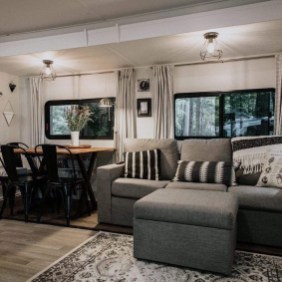 Wonderful Rv Camper Van Interior Decorating Ideas 18