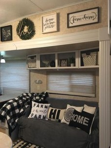 Wonderful Rv Camper Van Interior Decorating Ideas 28