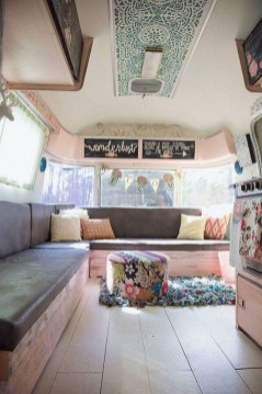 Wonderful Rv Camper Van Interior Decorating Ideas 40