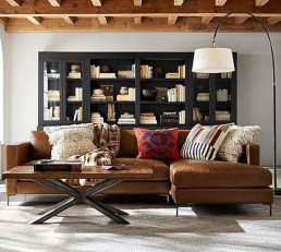 Charming Living Room Designs Ideas With Combinations Of Brown Color 08