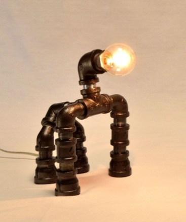 Cool Diy Industrial Pipe Lamps Ideas 40