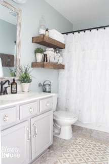 Elegant Farmhouse Bathroom Wall Color Ideas 11