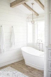 Elegant Farmhouse Bathroom Wall Color Ideas 20