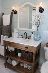Elegant Farmhouse Bathroom Wall Color Ideas 23