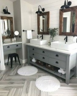 Elegant Farmhouse Bathroom Wall Color Ideas 32