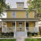 Flawless Exterior House Paint Ideas With Yellow Colors 12