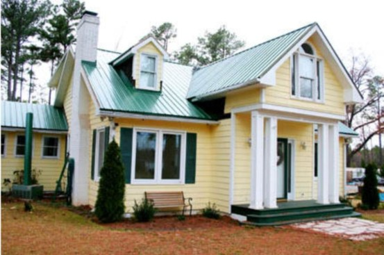 Flawless Exterior House Paint Ideas With Yellow Colors 35