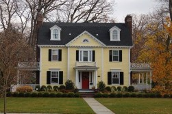 Flawless Exterior House Paint Ideas With Yellow Colors 48