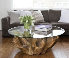Marvelous Glass Coffee Tables Ideas For Living Room 11