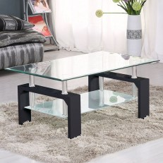 Marvelous Glass Coffee Tables Ideas For Living Room 14