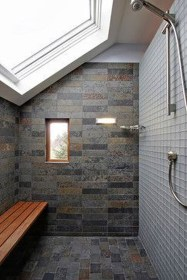 Modern Attic Bathroom Design Ideas 38