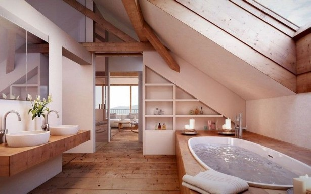 Modern Attic Bathroom Design Ideas 44