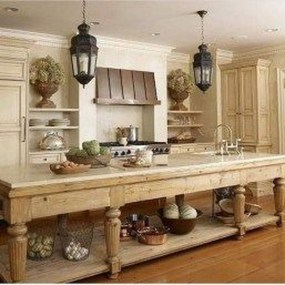 Stylish French Country Kitchen Decor Ideas 02