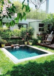 Amazing Natural Small Pools Design Ideas For Backyard 20