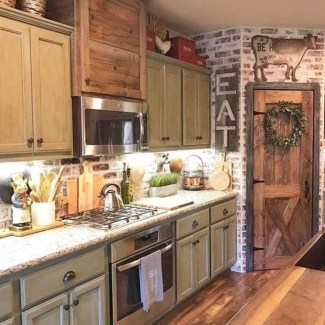 Stunning Country Farmhouse Design Ideas For Kitchen 36
