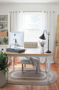 Lovely Small Home Office Ideas 22