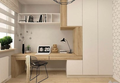 Lovely Small Home Office Ideas 50