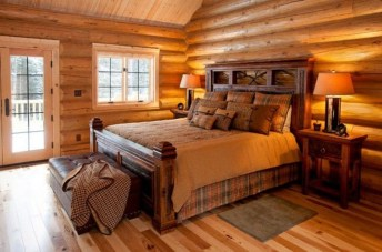Comfy Wooden Cabin Bedroom Design Ideas For Summer Holiday 09