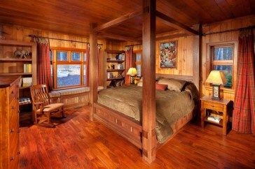 Comfy Wooden Cabin Bedroom Design Ideas For Summer Holiday 11