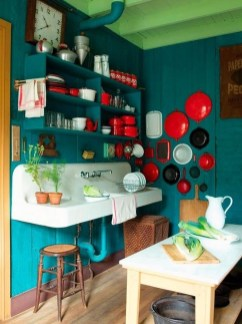 Cool Colorful Kitchen Decor Ideas For Summer 05