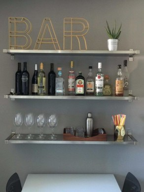 Elegant Mini Bar Design Ideas That You Can Try On Home 06