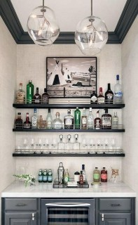 Elegant Mini Bar Design Ideas That You Can Try On Home 49