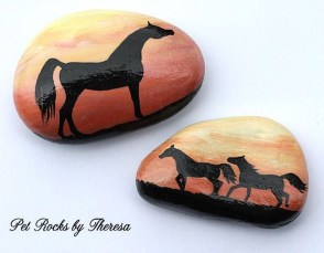 Inspiring Diy Painted Rocks Ideas With Animals Horse For Summer 47