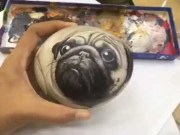 Magnificient Diy Painted Rocks Ideas With Animals Dogs For Summer 26