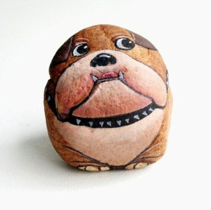Magnificient Diy Painted Rocks Ideas With Animals Dogs For Summer 33