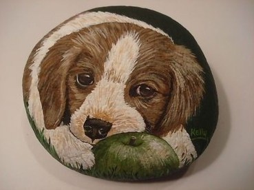 Magnificient Diy Painted Rocks Ideas With Animals Dogs For Summer 41