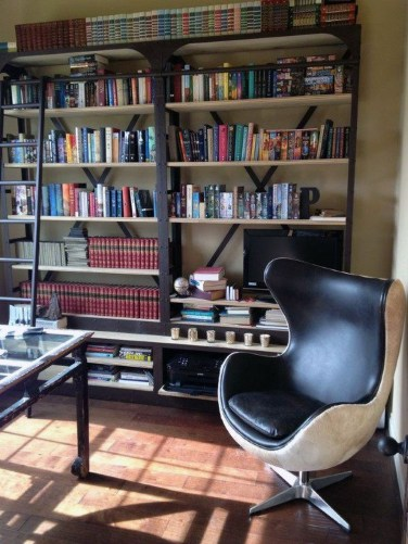 Magnificient Home Design Ideas With Library You Should Keep 12