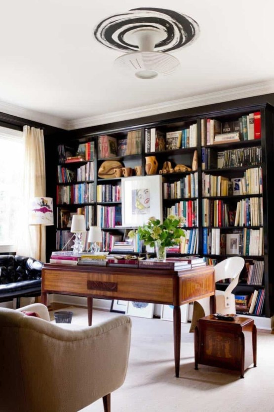 Magnificient Home Design Ideas With Library You Should Keep 24