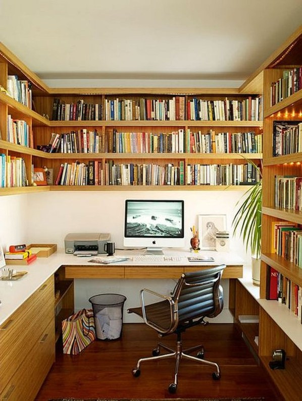 Magnificient Home Design Ideas With Library You Should Keep 42