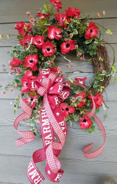 Pretty Summer Wreath Decor Ideas For Front Door 07