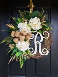 Pretty Summer Wreath Decor Ideas For Front Door 14