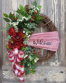 Pretty Summer Wreath Decor Ideas For Front Door 21