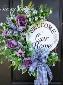 Pretty Summer Wreath Decor Ideas For Front Door 33