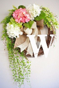 Pretty Summer Wreath Decor Ideas For Front Door 46