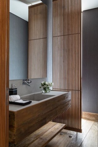 Rustic Bathroom Design Ideas With Wood For Home 51