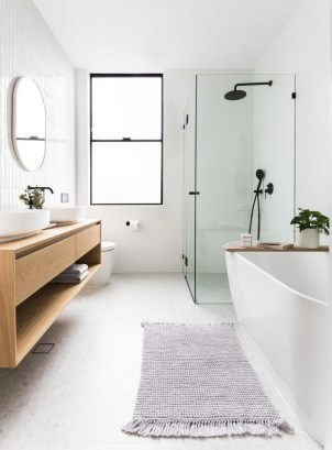 Rustic Bathroom Design Ideas With Wood For Home 53