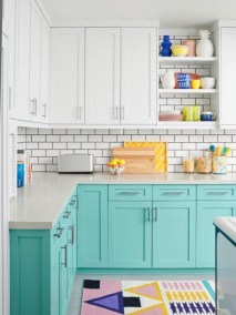 Unique Painted Kitchen Cabinets Design Ideas With Two Tone 02