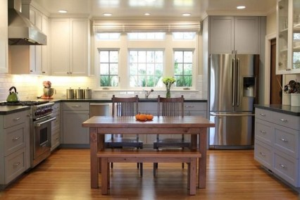 Unique Painted Kitchen Cabinets Design Ideas With Two Tone 03