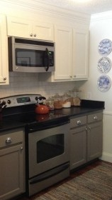 Unique Painted Kitchen Cabinets Design Ideas With Two Tone 07