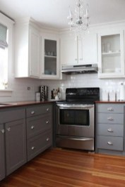 Unique Painted Kitchen Cabinets Design Ideas With Two Tone 16