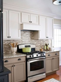 Unique Painted Kitchen Cabinets Design Ideas With Two Tone 22